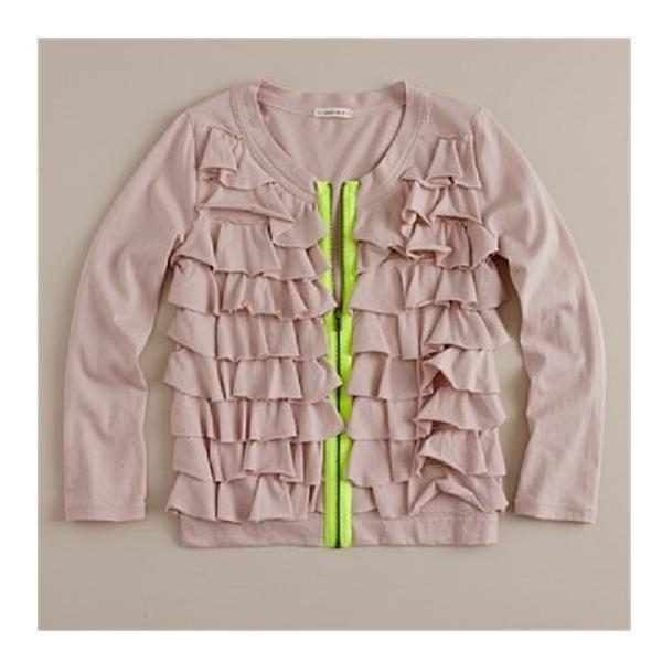 Ruffle sweater.