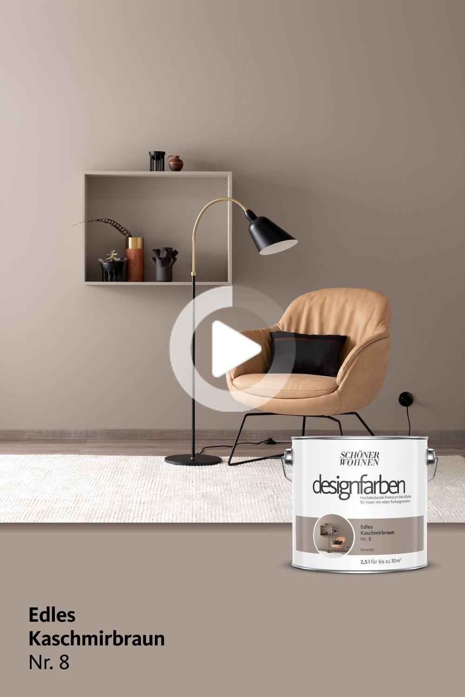 Designfarbe Edles Kaschmirbraun Nr 8 In 2020 Schoner Wohnen Farbe Schoner Wohnen Wandfarbe Wohnen