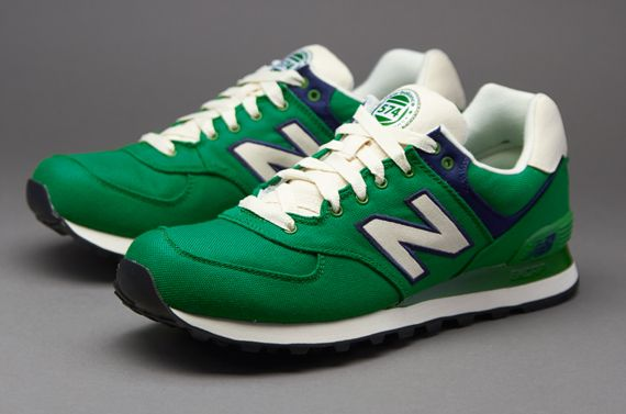 new balance green and white