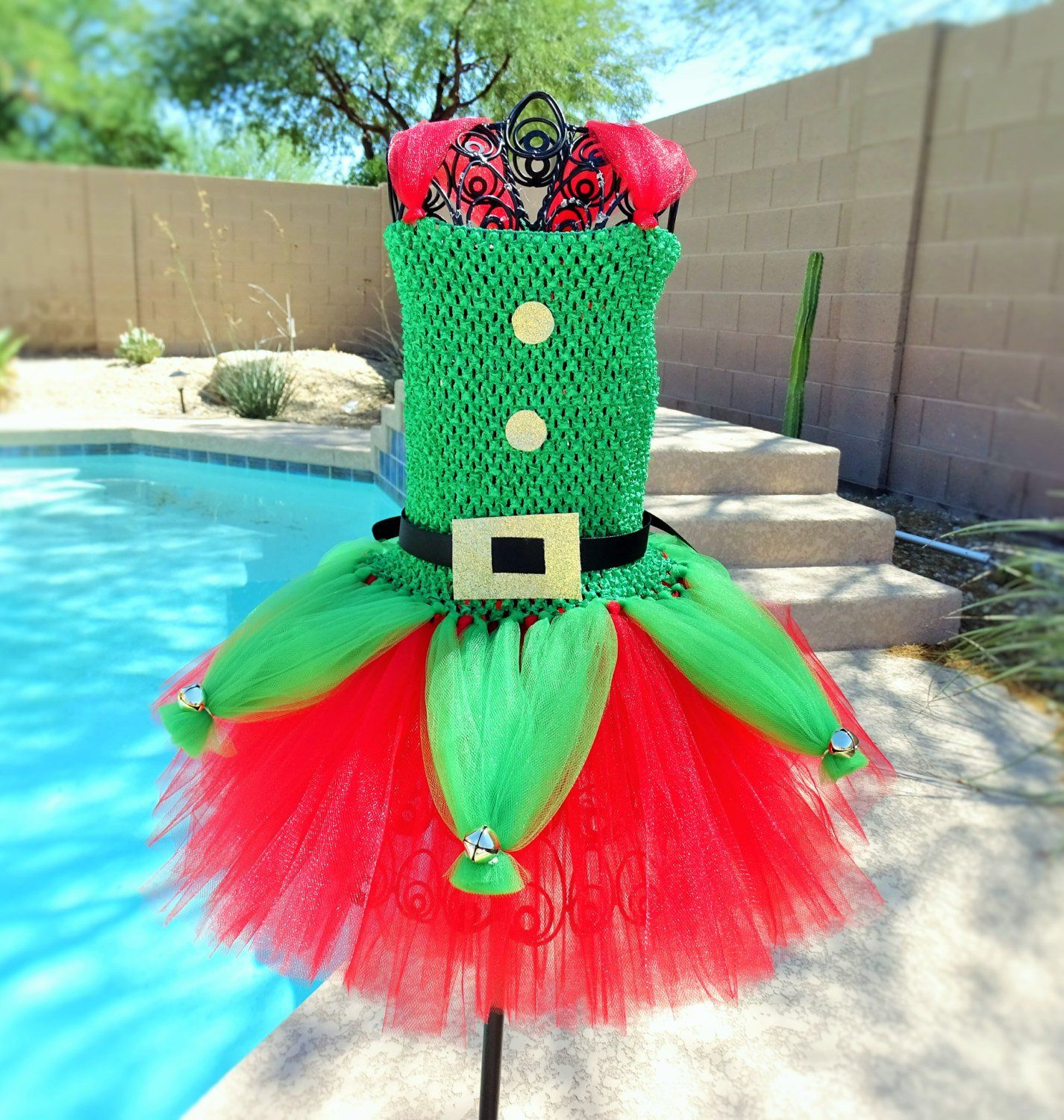 Elf Inspired tutu dress Halloween tutu costume Christmas