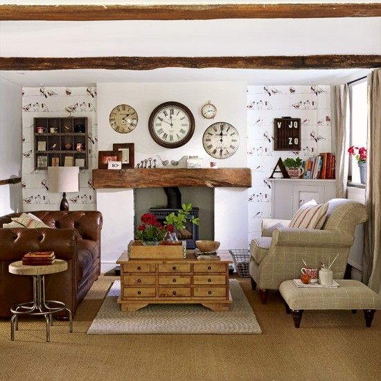Quirky Country Living Room Designs Fireplace Housetohome Co Uk
