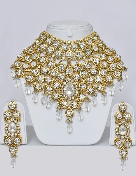 Cool jewelry from india Heavy Indian Bridal Jewelry Set With Stones Online Shopping