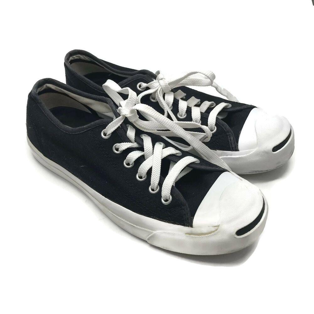 Sorprendido limpiar estanque  Converse Jack Purcell Black Low Top Sneakers Shoes Women's 8 Men's ...