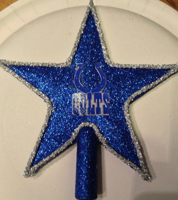 Indianapolis Colts Christmas Tree Topper 6 By Jewlsbasement