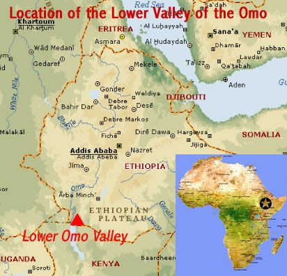 Map showing the location of fossil hominid sites in the Lower Valley ...