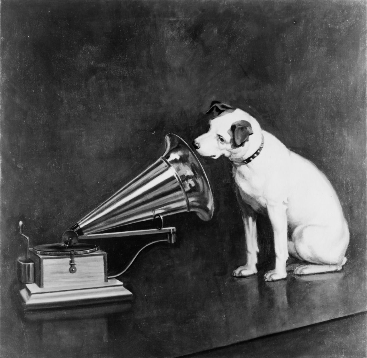 Dog Looking At And Listening To A Phonograph Francis