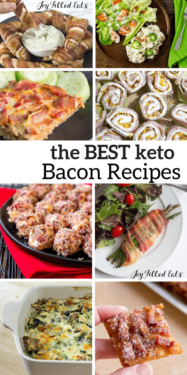 The BEST Keto Bacon Recipes for Dinner, Snacks, Sides, and even Dessert! Bacon is always a welcome