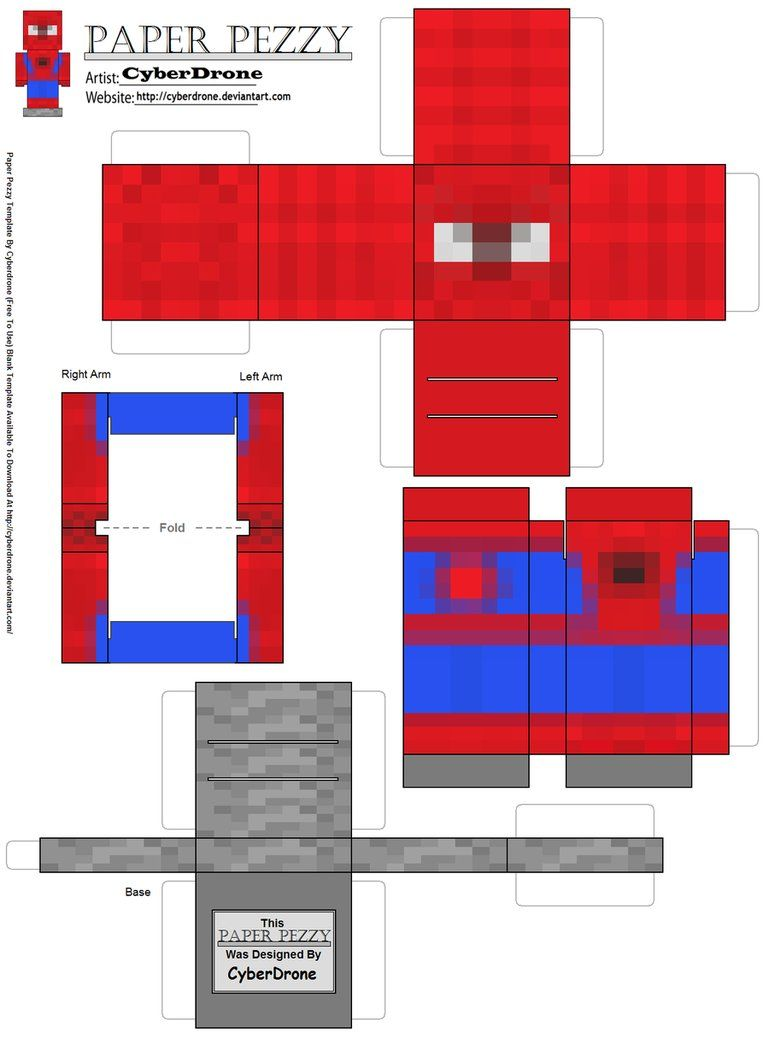 Papercraft Minecraft People Paper Pezzy SpiderMan Minecraft By - Paper minecraft jetzt spielen