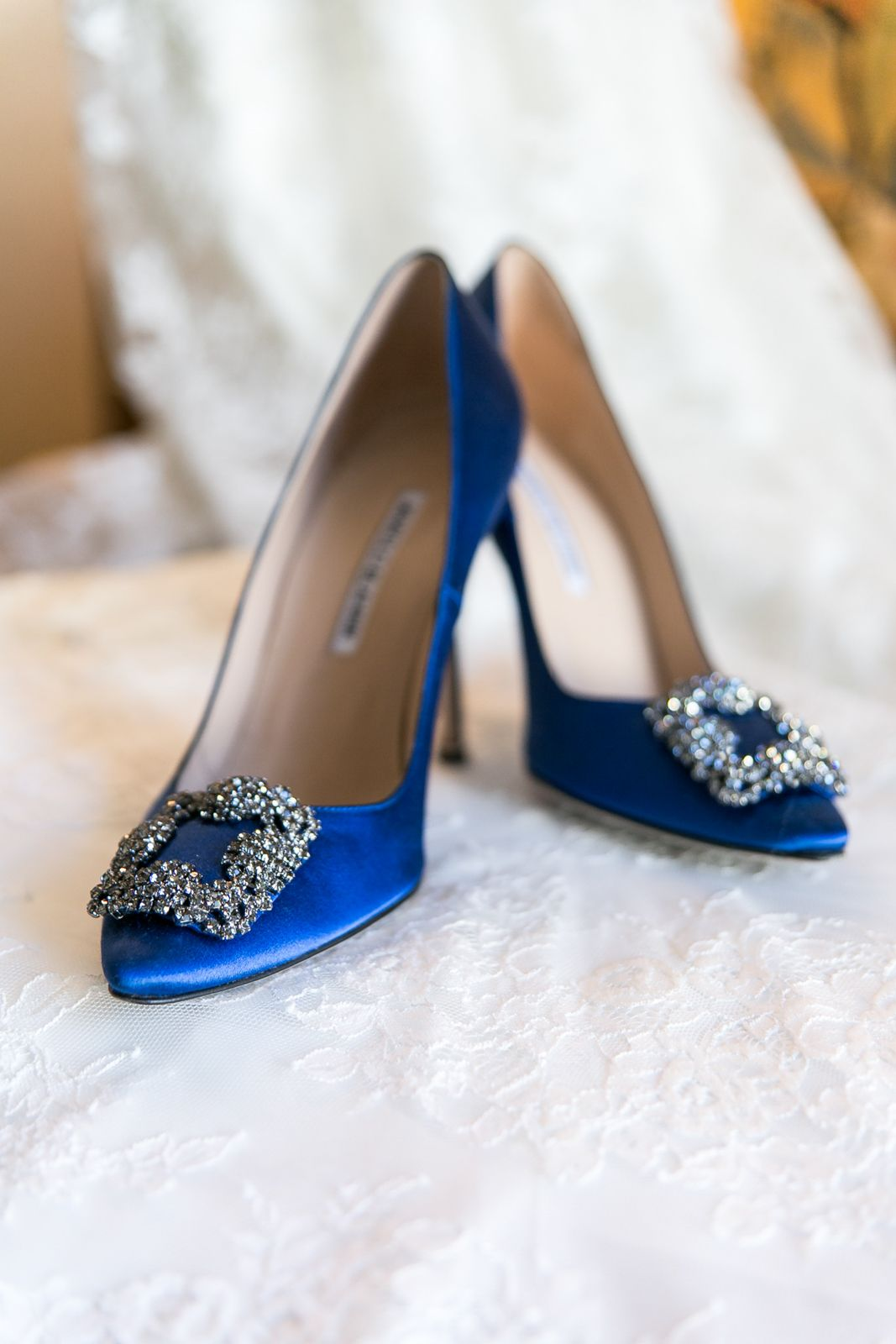 Inside Weddings Blue Wedding Shoes Manolo Blahnik Wedding Shoes Wedding Shoes