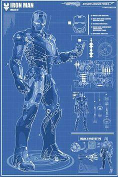 Iron Man Blueprints