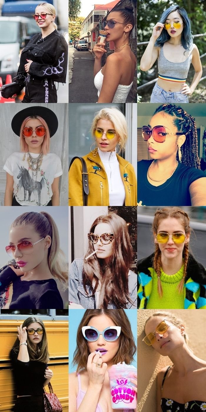 976eb4d2f5b7d Óculos de sol  tendência das lentes transparentes e coloridas ...