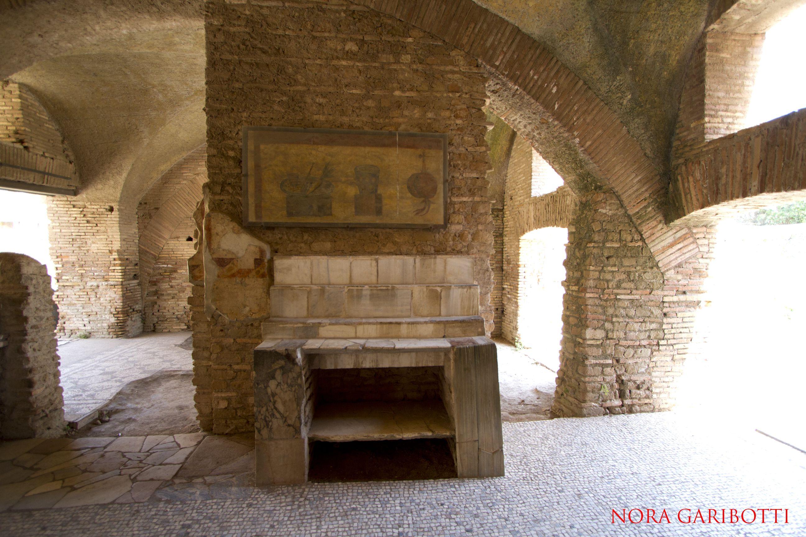 Ostia Antica A Roman Bar Archaeological Site Ancient Rome Rome