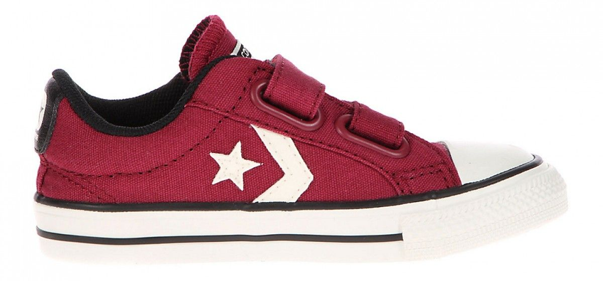 Converse Star Player Toddler Low 2V Vintage Canvas Rhubarb