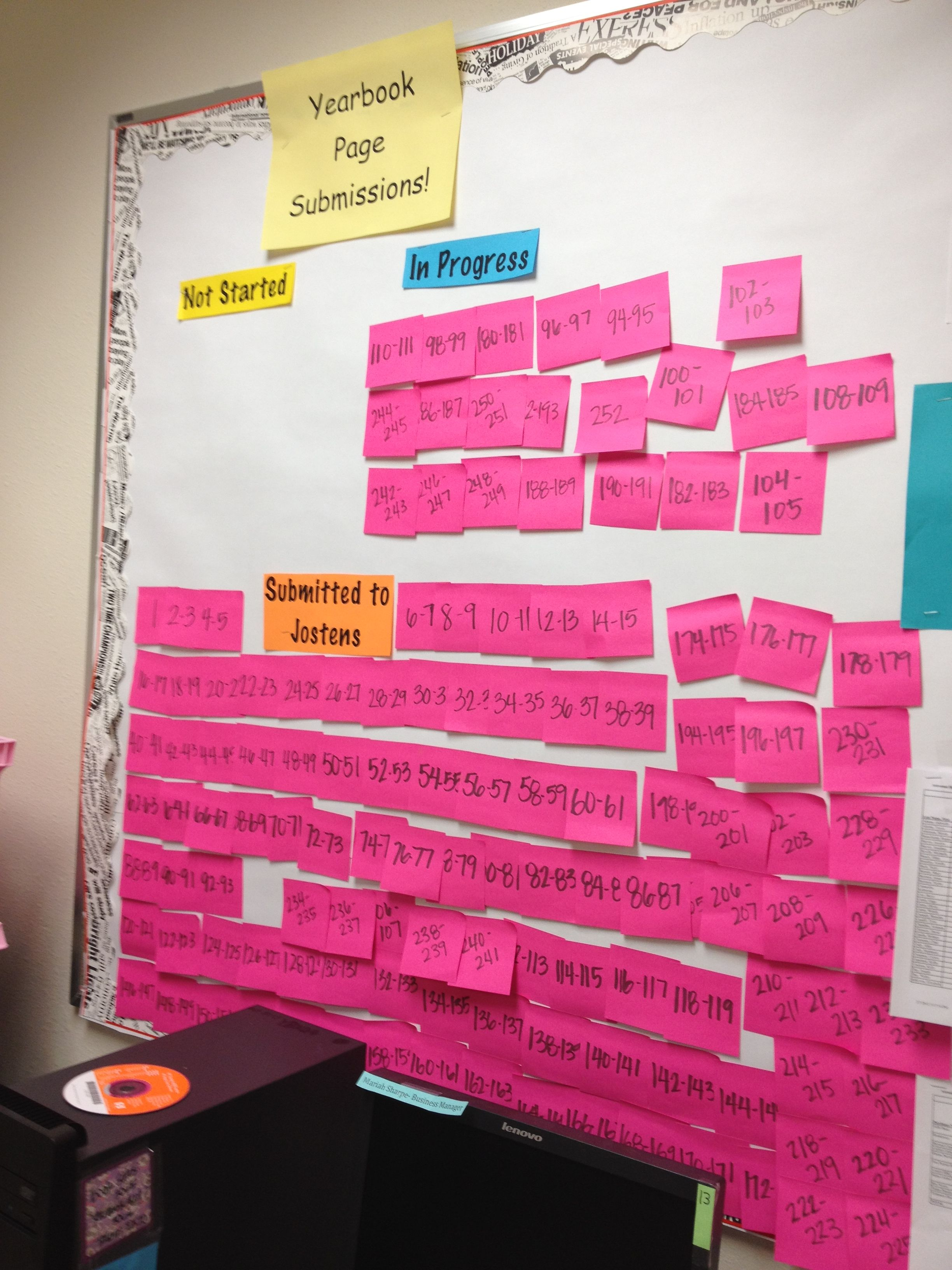 Neat idea movable ladder by using postit notes to show where p