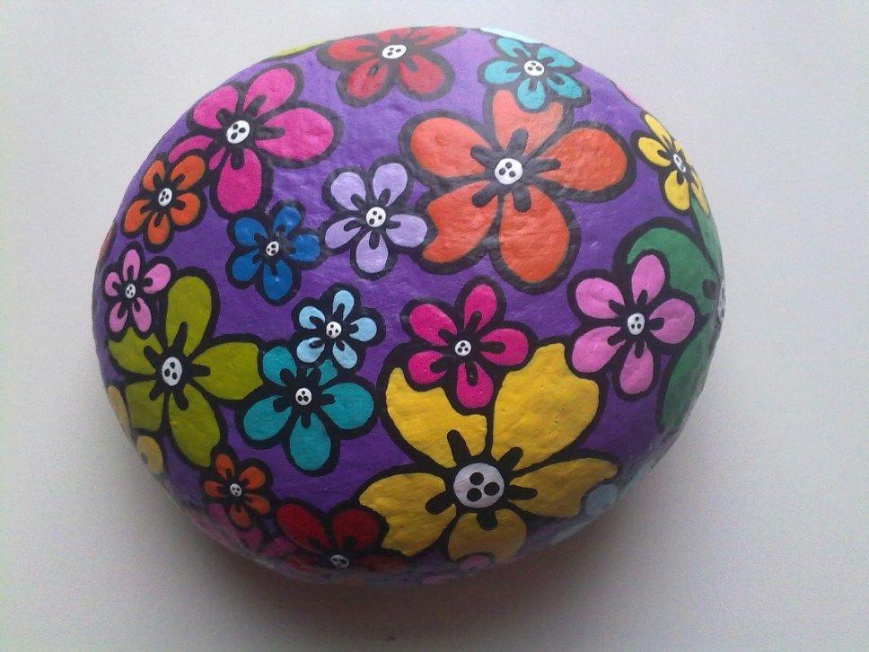flowers 2 2009 dessin sur galets pinterest. Black Bedroom Furniture Sets. Home Design Ideas
