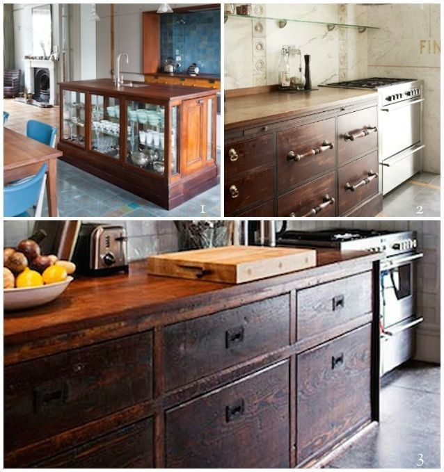 Best Repurposed Reclaimed Nontraditional Kitchen Island 400 x 300
