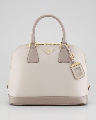 Prada Saffiano Lux Bowler Bag | Bolsos prada, Cartera de
