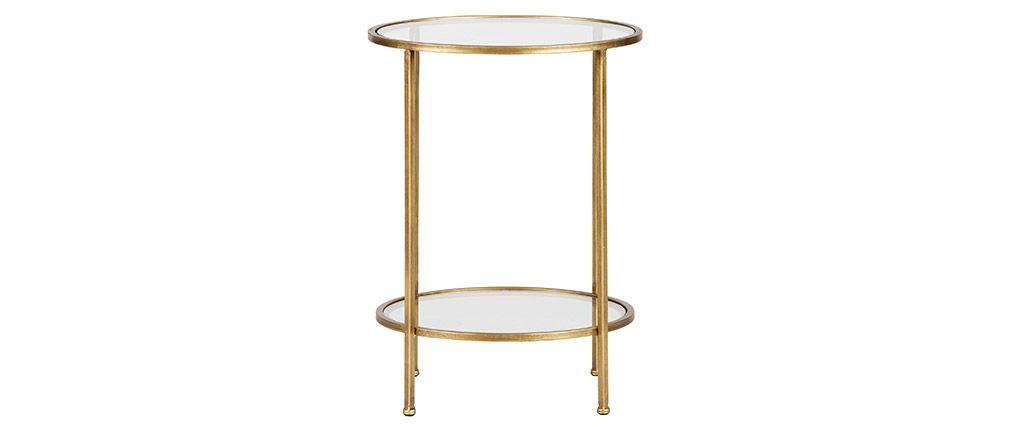 Table D Appoint Deux Plateaux Laiton Dore Pyou Avec Images Table D Appoint Table De Chevet Design Chevet Design