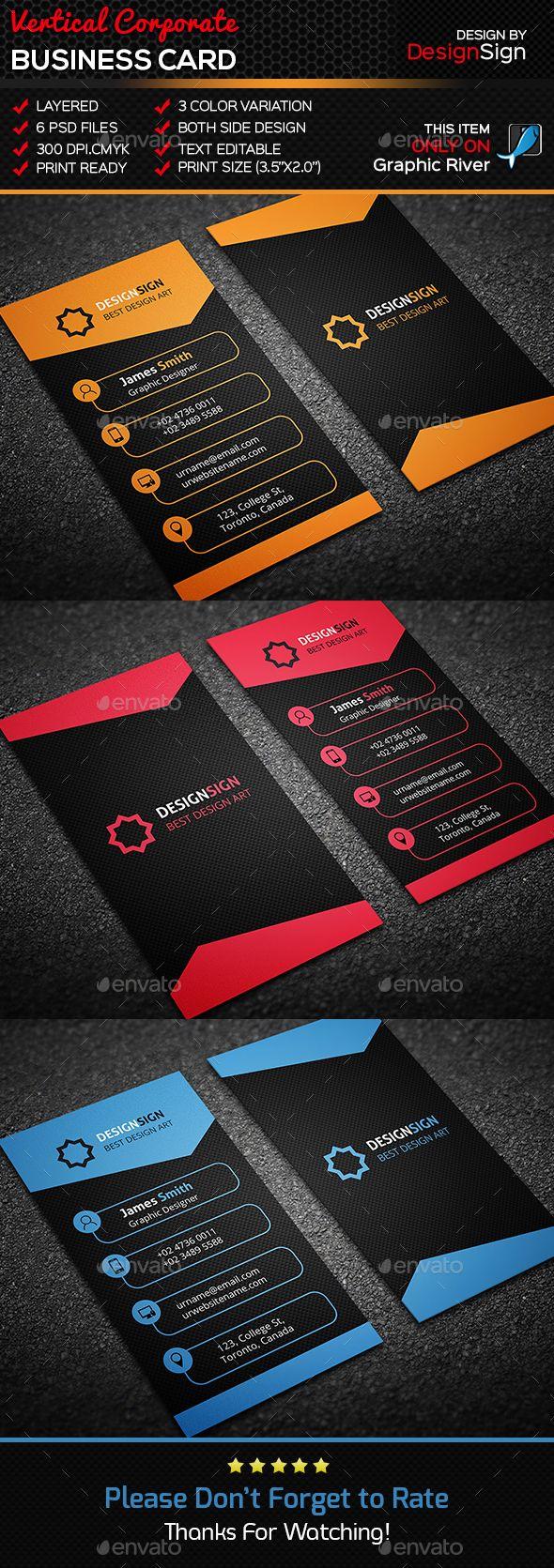 Vertical corporate business card corporate business business vertical corporate business card corporate business cards reheart Choice Image