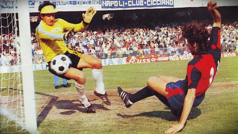 Luciano Castellini Da Un Suo Errore Nell Ultima Giornata Di Campionato 1980 81 Nasce Il Gol Che Salva Il Genoa Dalla Serie Figurine Di Calcio Calcio Calciatori