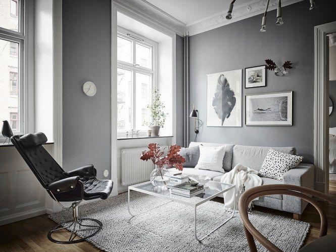 Dormitorio fresco y acogedor en grises Dormitorio nórdico
