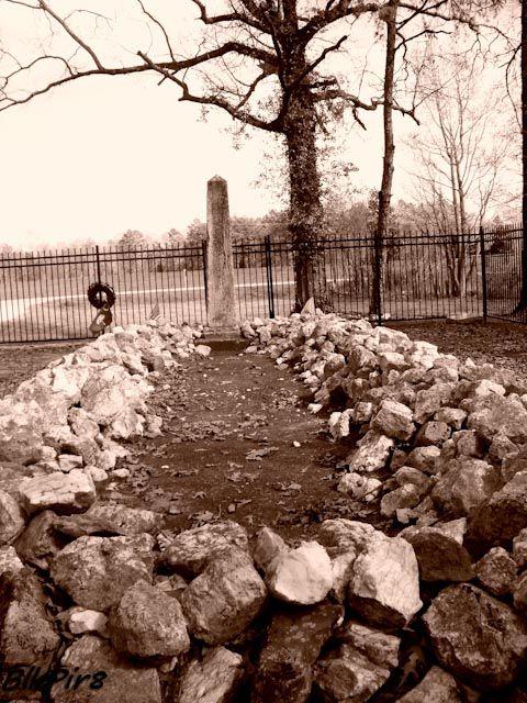 Mass grave at Buford Massacre Memorial Site in Lancaster, South Carolina