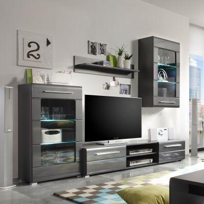 Hochglanz Wohnwände Modernität fürs Wohnzimmer Home24 Möbel - wohnwnde hochglanz