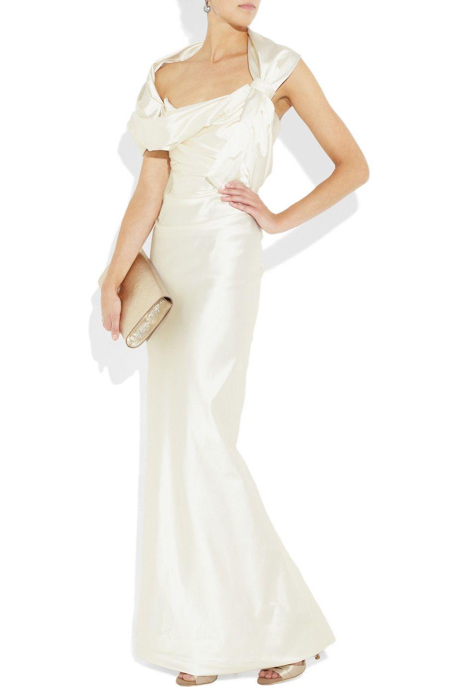 Vivienne Westwood Gold Label Bellini Silk Blend Stretch Satin Gown Net A Porter Com Satin Gown Vivienne Westwood Wedding Dress Stretch Satin [ 1380 x 920 Pixel ]