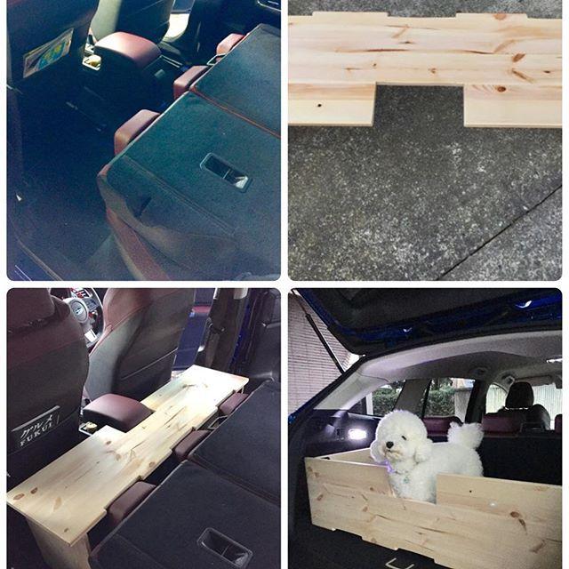 レヴォーグで車中泊出来るように 隙間ブロックを作成 普段は ラゲッジルームに設置しており 愛犬のケージに キャンプやbbqの時は テーブルとして使用する予定 春まで使わない 車中泊 Diy ケージ テーブル Subaru スバル レヴォーグ Sti Wrブルーパール