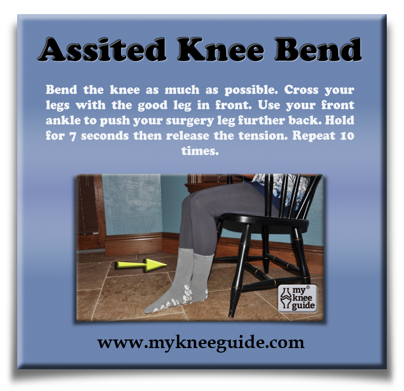 Assisted Knee Bend: Bend The Knee As Much As Possible