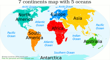 map with continents and oceans Map Of Continents And Oceans Continents And Oceans Map Of map with continents and oceans