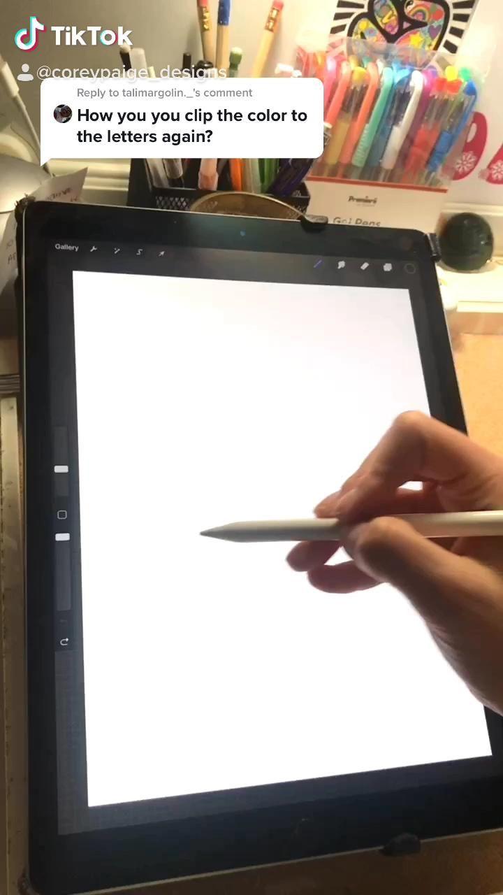 Procreate How To By Coreypaige Designs On Tik Tok Video In 2020 Procreate Ipad Art Digital Art Tutorial Ipad Art