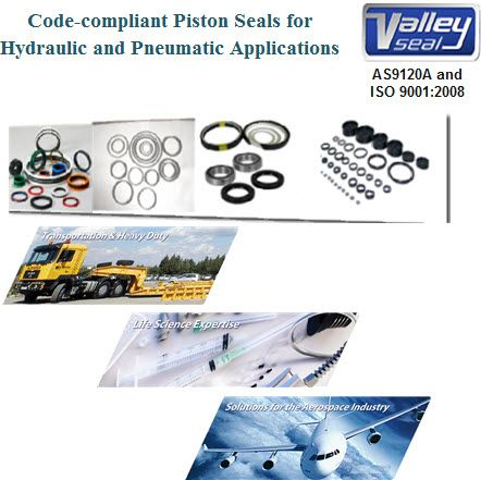 Code-Compliant Piston Seals for Hydraulic and Pneumatic