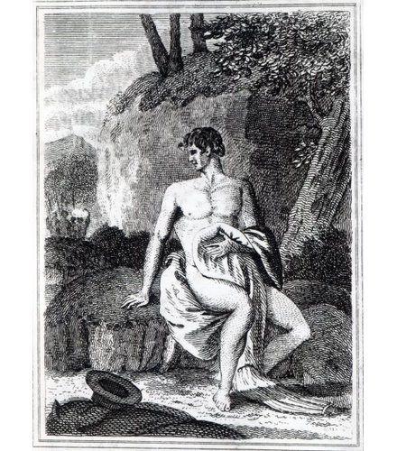 East Urban Home Gerahmter Grafikdruck Mungo-Park in Afrika, eine Illustration aus 'Reisen in die inneren Bezirke Afrikas: Aufgeführt in den Jahren 1795, 1796 und 1797″, veröffentlicht 1816