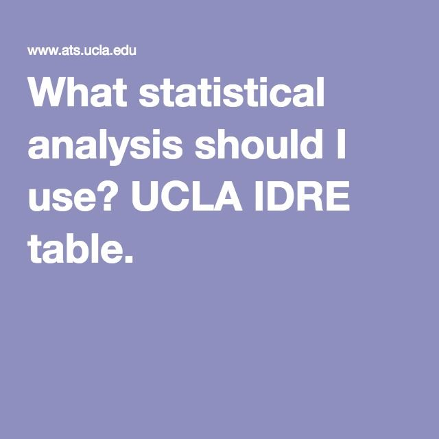 What statistical analysis should I use UCLA IDRE table R