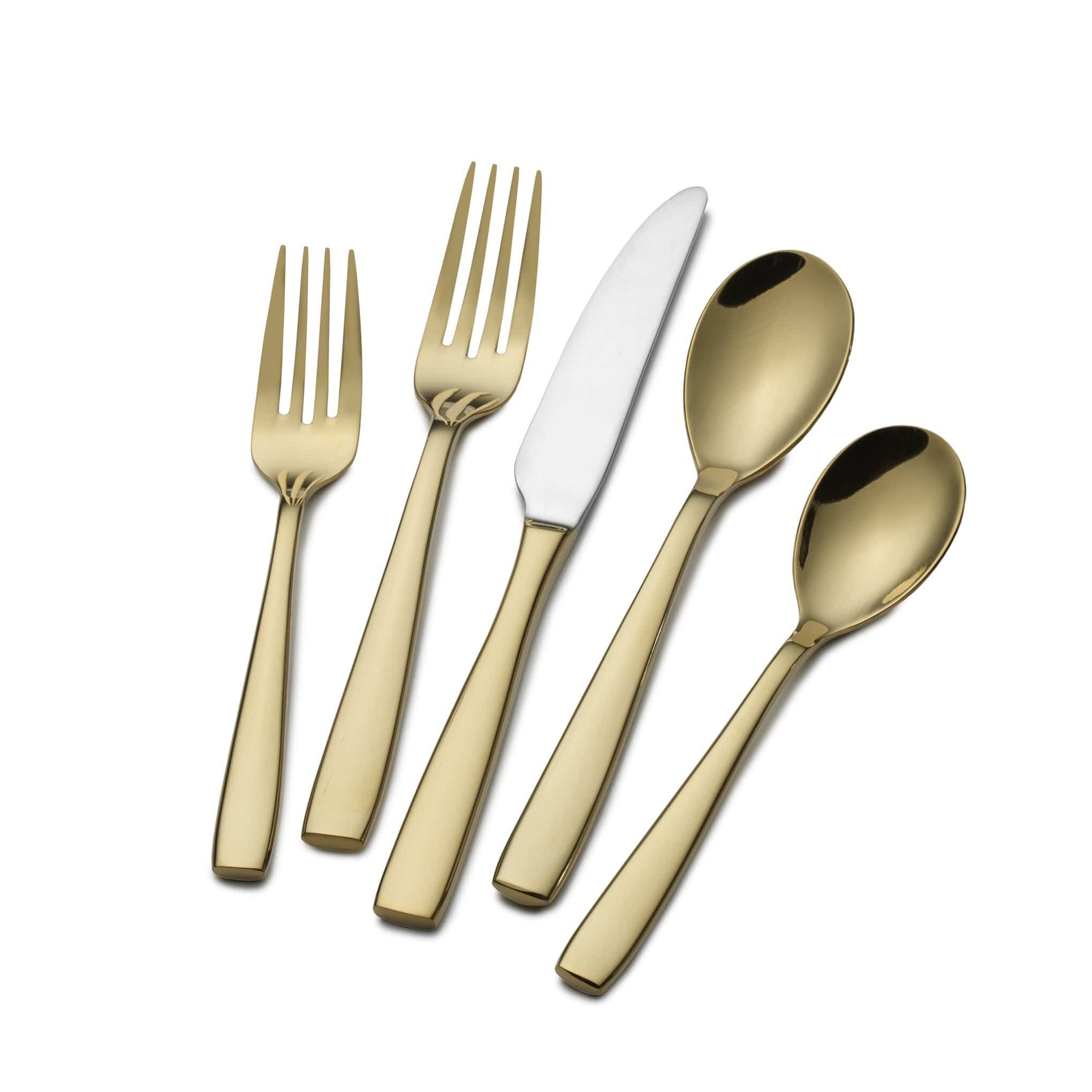 Delano Gold Plated 20 Piece Flatware Set, Service for 4