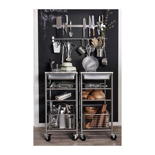 Grundtal carrito ac inox estantes de cocina utensilios - Carritos para cocina ...