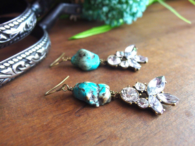 A personal favorite from my Etsy shop https://www.etsy.com/listing/279249560/western-earrings-turquoise-earrings