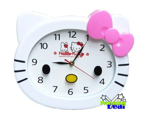 Charming New Cute Hello Kitty Room Bed Wall Hanging Clock Red | EBay Design Inspirations
