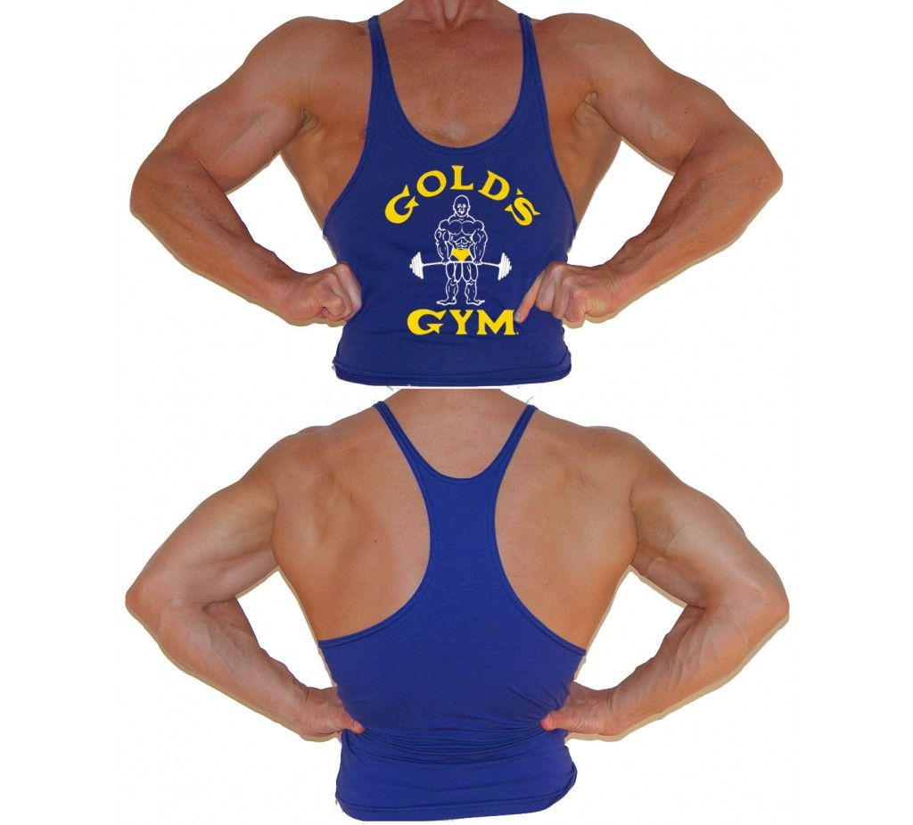 e85a48c0e0e861 G300 Golds Gym Stringer Tank Top Mens Y-Back Joe Logo