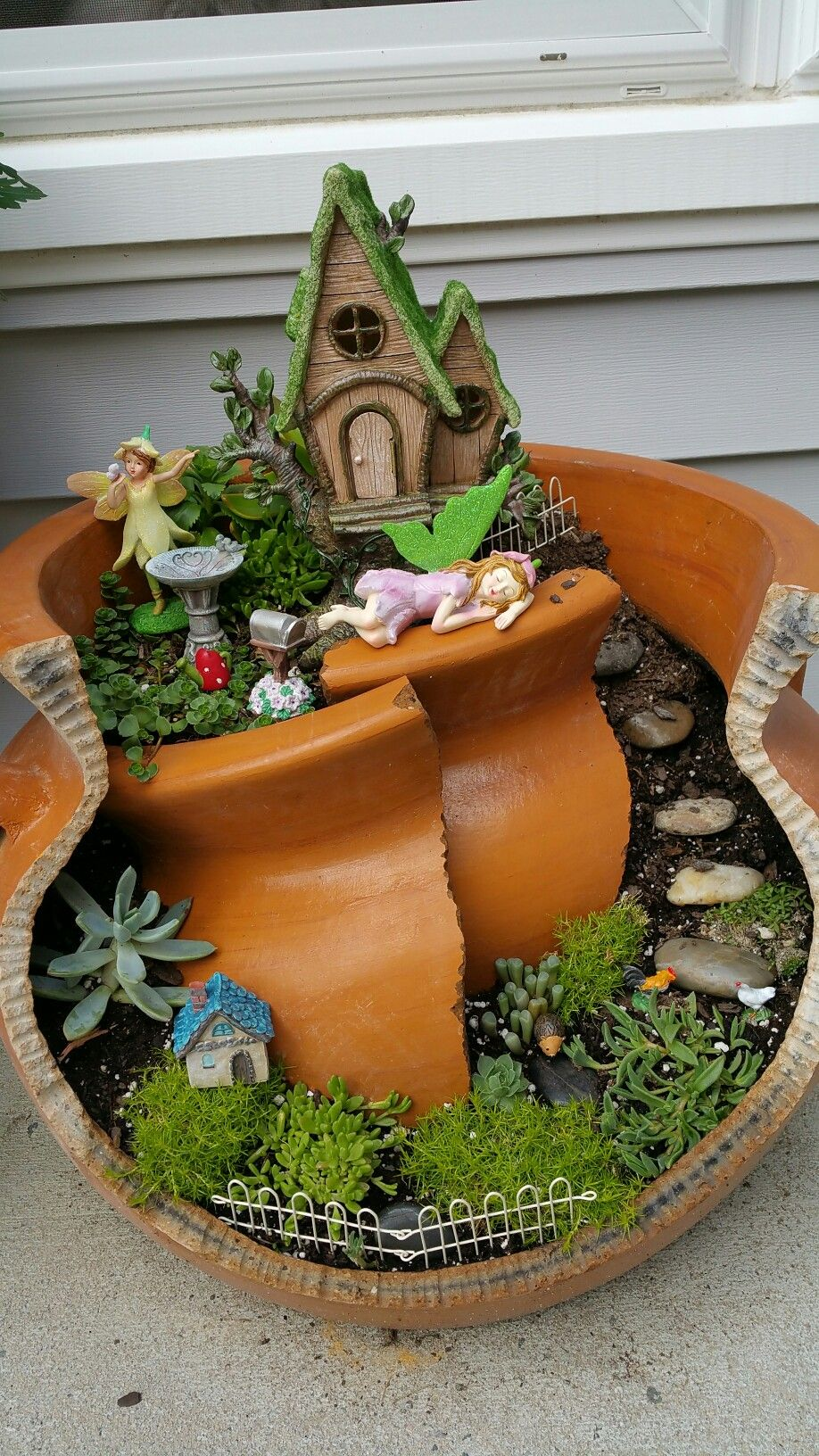 My fairy pot   Flowers   Pinterest   Fairy pots, Miniature gardens ...