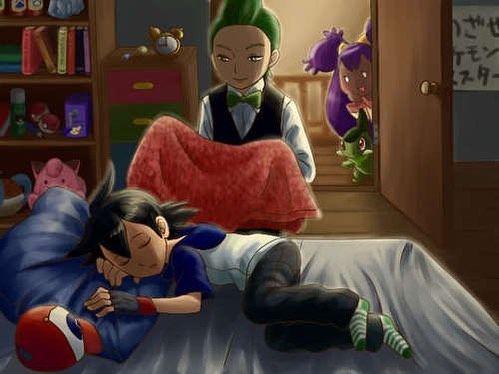 """Résultat de recherche d'images pour """"pokemon ash asleep"""