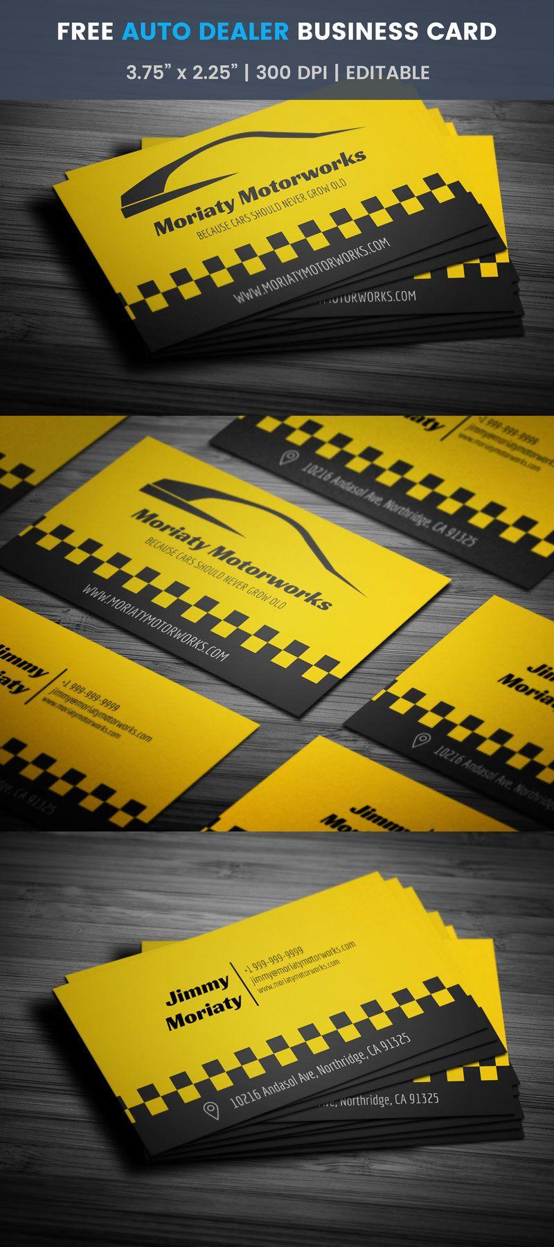 Auto Dealer Business Card Full Preview Pinterest