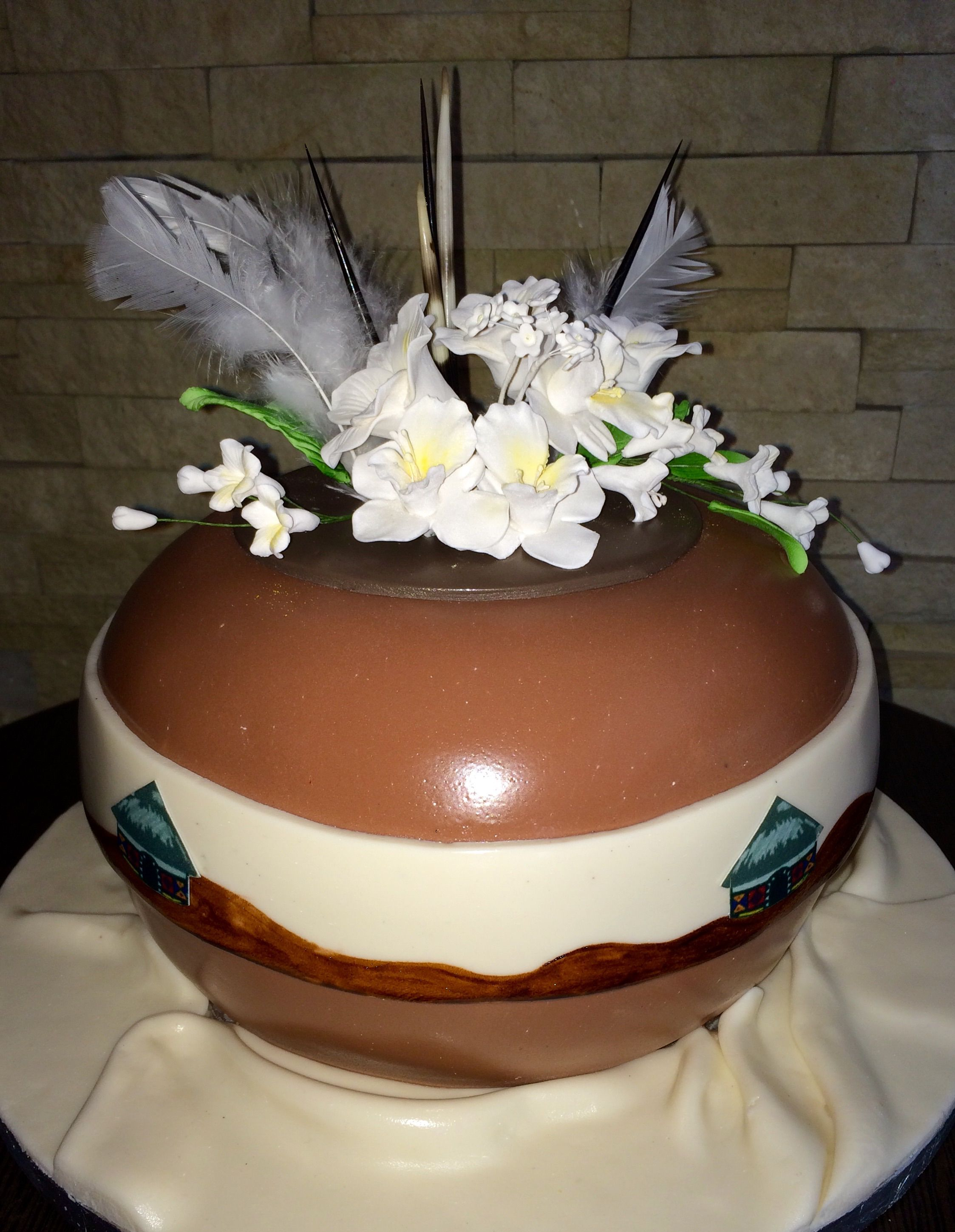 african wedding cakes pictures clay pot cake wedding cakes 10622