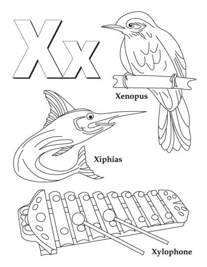 My A To Z Coloring Book Letter X Coloring Page Alphabet