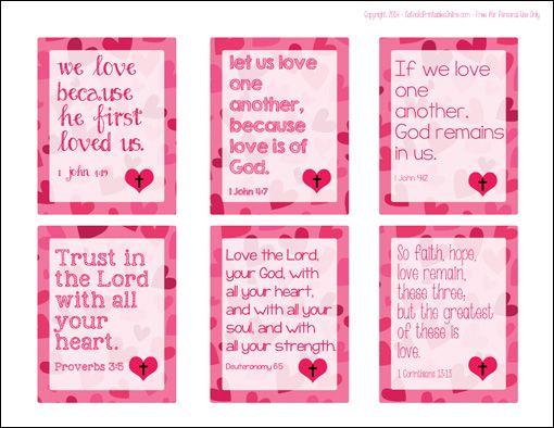 Printable Religious Valentine Cards for Kids – Valentine Cards Image