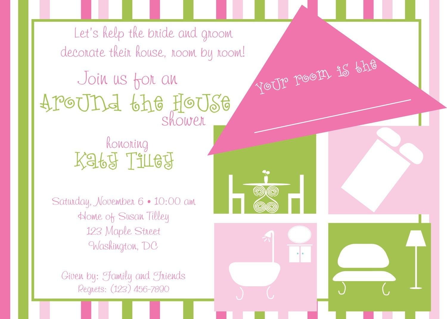 Around the house shower invitation oh taste and c pinterest around the house shower invitation filmwisefo Images