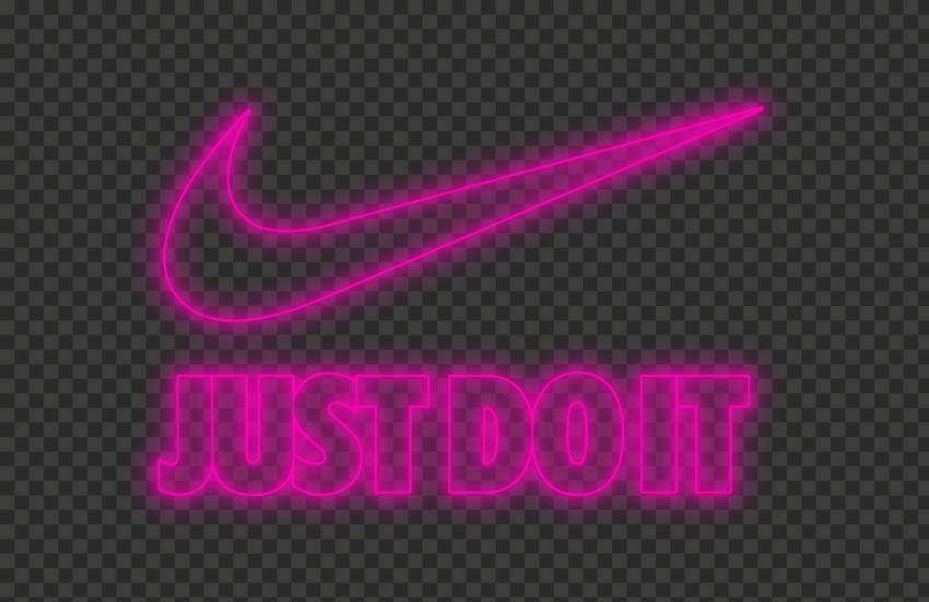 Hd Nike Just Do It Neon Pink With Tick Logo Png Citypng In 2021 Just Do It Neon Pink Neon