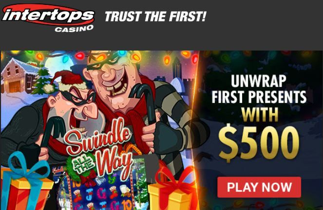 200% match + 50 free spins on Swindle All The Way slot