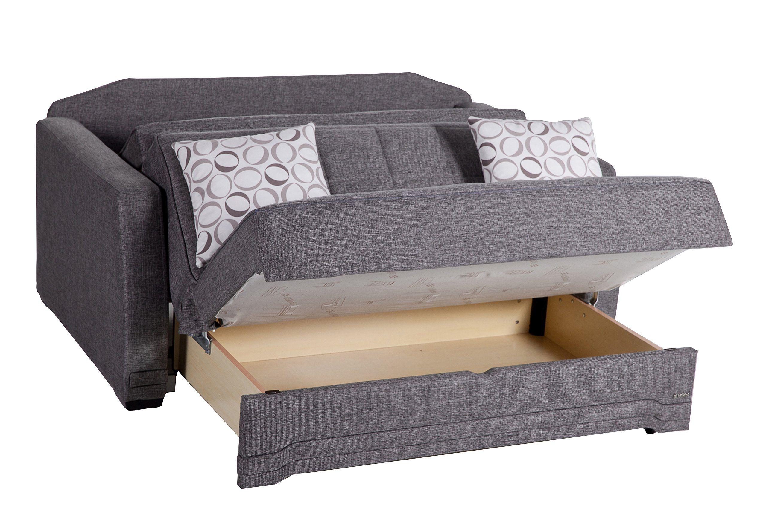 Istikbal Multifunctional Love Seat Sleeper Valerie Collection Grey